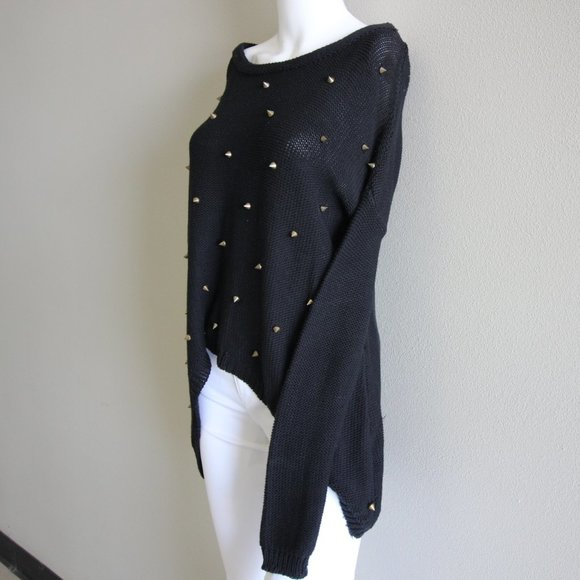 NWOT Black Sweater with Studs